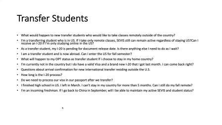 New International Student Q&A Session