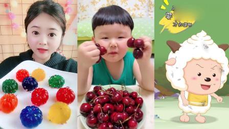 萌姐吃播:彩色小南瓜果冻,各种口味任意选,是我向往的生活