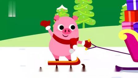.碰碰狐儿歌:圣诞节到啦,小动物开始装饰圣诞树,闪闪发光真好看