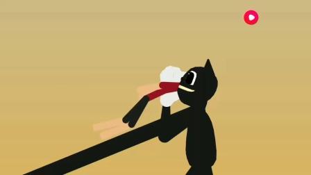 汽笛人激战卡通猫 动漫特效
