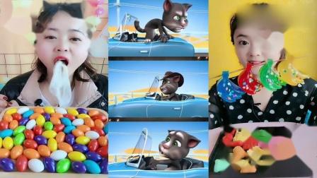 小可爱吃播:彩色泡泡糖小香蕉,各种颜色任选,儿时向往的生活