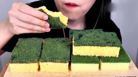 这个看起来像刷锅一样的海绵蛋糕,当真能吃吗.mp4