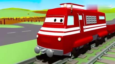 儿童教育卡通动画片 拖车汤姆和火箭在汽车城