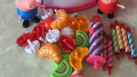 今天是猪妈妈的生日,乔治佩奇就给妈妈做了个水果蛋糕,猪妈妈会喜欢吗