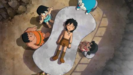 哆啦A梦的铜锣烧被偷吃,他哭的都流鼻涕了,小偷是个原始人