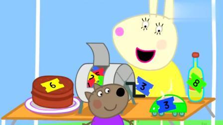 小猪佩奇:佩奇想要坐热气球,猪爸爸还是比较喜欢巧克力蛋糕