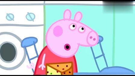 小猪佩奇:佩奇又拿了一个盘子,想让猪妈妈给里奥一块水果蛋糕!