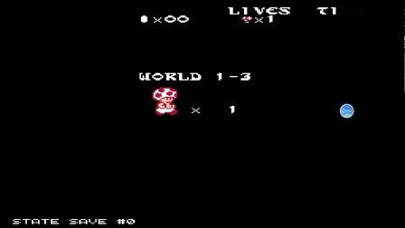 FC磁碟版马里奥2改版191蘑菇人雪世界通关