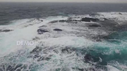 歌曲配乐 f102 震撼大气辽阔海洋海水海面海浪白色浪花波纹实拍视频素材 背景视频