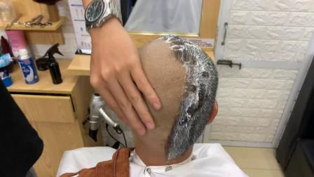 老式剃刀刮光头4