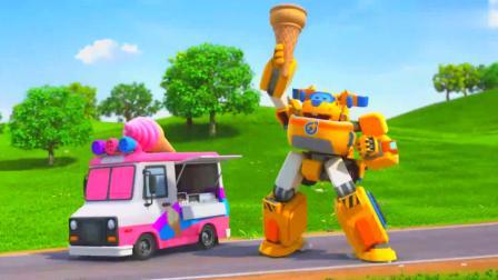 超级飞侠:多多可以把小蛋筒变大,乐迪找到牛奶,可以做冰淇淋了