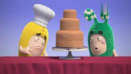 奇宝萌兵:绿宝为了偷吃生日蛋糕,竟然躲在蛋糕里,太有趣啦
