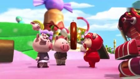 猪猪侠:猫咪用面包卷攻击GG.
