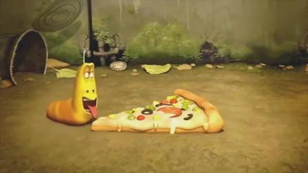 爆笑虫子:小红喝个水的时间,一整块披萨,就被大黄吃光了.mp4.mp4
