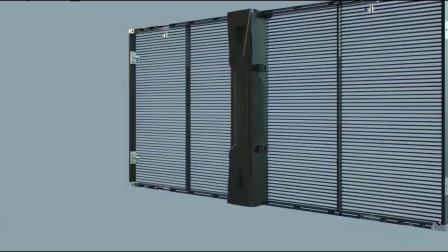 LED透明屏安装视频   吊装及橱窗固装展示