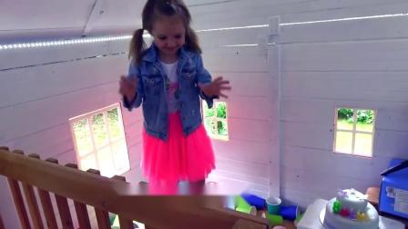 萌娃小可爱:小萝莉太开心了,还有好吃的生日蛋糕,亲子益智玩具儿童乐园
