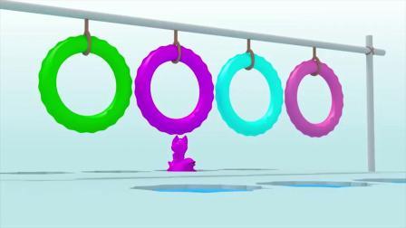 迷你特工队游戏:路西的冰川海豚表演  海豚是什么颜色的