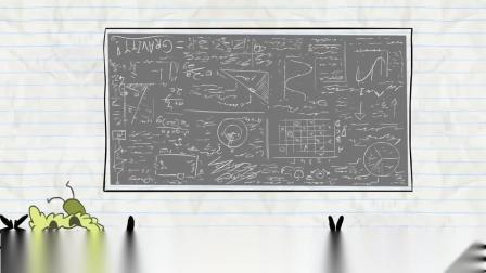 搞笑铅笔画小人游戏:阿呆幻想着自己能变成牛顿,他跑到苹果树下学习