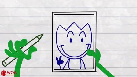 搞笑铅笔画小人游戏:阿呆拿了披萨回来却不开心为什么呢
