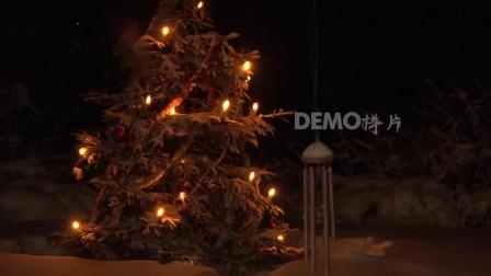 歌曲配乐 f264 2k画质超唯美宁静夜晚圣诞树圣诞节祝福元旦晚会舞台大屏幕LED背景视频素材 背景视频