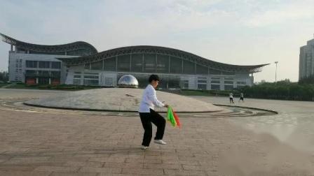 苏河杨氏太极拳培训学校苏河弟子边静杨式十三刀