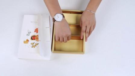 【多多家烘焙包装】手绘蛋黄酥折叠视频