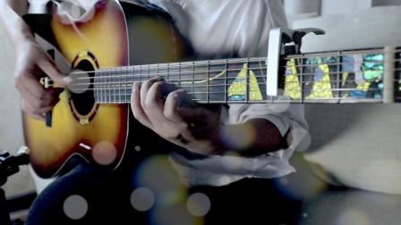 吉他指弹 夜空中最亮的星 给你一片宁静壮阔的星空