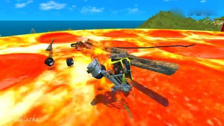 车祸模拟:怪物卡车开足马力飞跃冲向超大披萨和可乐,这画面够酸爽
