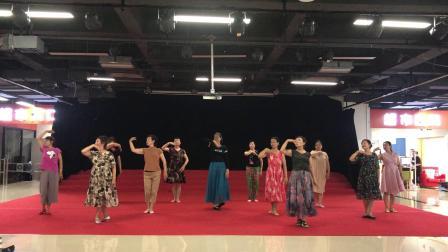 青岛蓝天民族舞蹈队排练雪白的爱