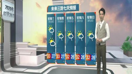 2020年07月26日中山天气预报(粤语版)