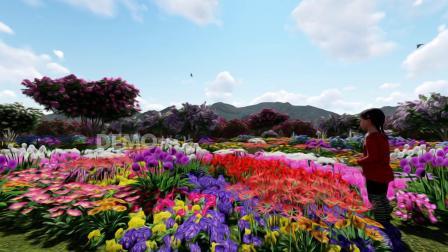 歌曲配乐 f368 2k画质创意油画鲜花盛开小清新动画背景 背景视频