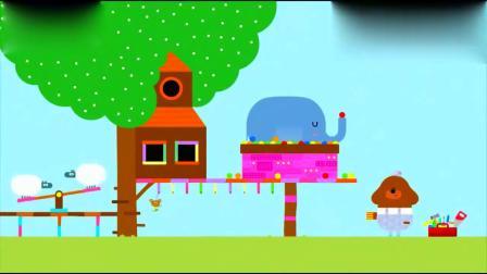 嗨道奇:阿奇帮动物们,做出好多新家,阿奇太厉害了!