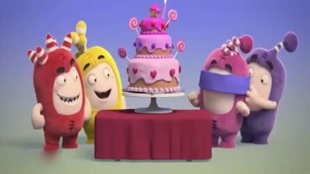 奇宝萌兵:小绿想吃生日蛋糕,竟然藏在蛋糕里,真让人无奈啊