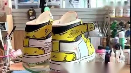 「AJ1OW欧洲限定」定制皮卡丘球鞋定制涂鸦DIY