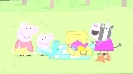 小猪佩奇:佩奇乔治和苏怡是在过家家呢?鸭子们想吃面包!