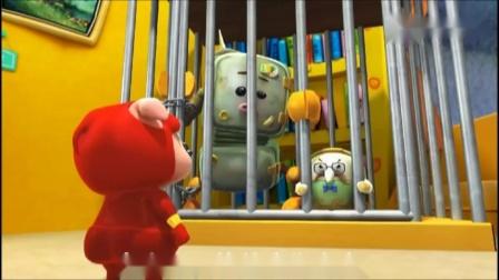 猪猪侠:猪猪侠把电饭煲和冰箱关起来,电饭煲气得直叫唤,气死了