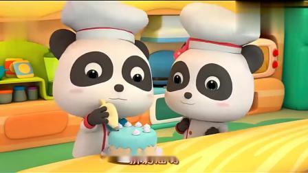 宝宝巴士美食总动员熊猫宝宝是一个蛋糕师,教大家怎么做蛋糕