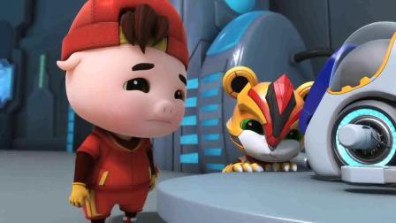 猪猪侠:猪猪侠太惨了,被迷糊博士当成机器人,天天打扫卫生!