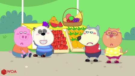 儿童卡通片:小伙伴们售卖水果冰淇淋