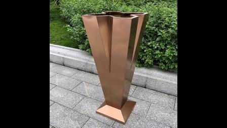 【江苏鑫宇】不锈钢花盆厂家定制上海园林景观烤漆拉丝不锈钢花箱