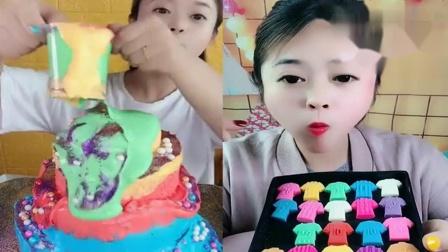 萌姐吃播:巧克力小球衣,爆浆蛋糕,看着就过瘾