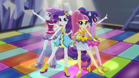小马宝莉:紫悦穿上礼服,跳起舞蹈,眼镜妹也可以这么美