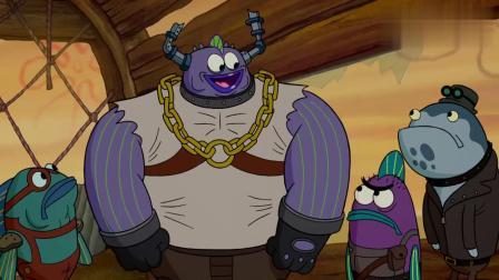 珊迪提议要祭祀三明治之神,蟹老板一句话,让他变成祭品