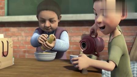 天天成长记:农村娃给妈妈端茶倒水,孝顺的很!