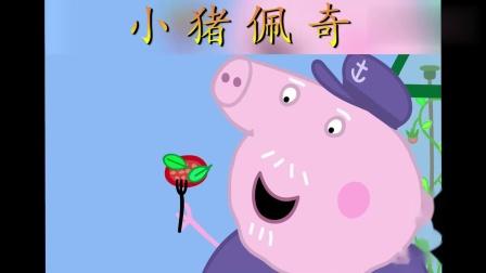 小猪佩奇:狗爷爷的番茄和猪爷爷的罗勒组合,是最好吃的番茄色拉