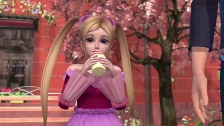 叶罗丽:荒石吃一口彩虹冰激凌,直呼好甜,表情太可爱.