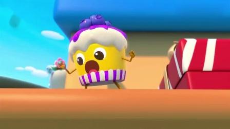 少儿宝宝巴士:杯子蛋糕掉到了地上,可是地面太危险了