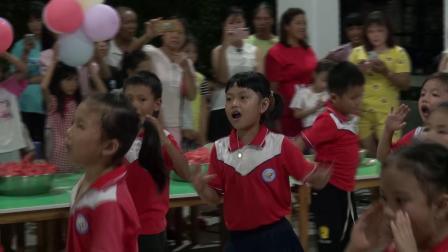 合山市溯河村幼儿园2020年春季学期亲子篝火晚会