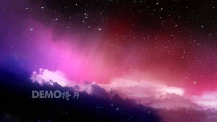歌曲配乐 f617 唯美梦幻紫色云彩流云云端之上雪花飘落童话世界视频素材 背景视频