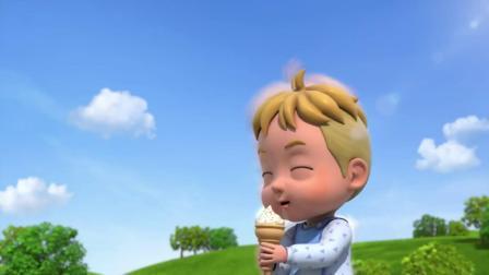 《超级飞侠》超大冰淇淋,超级飞侠终于把巨婴宝宝变小了